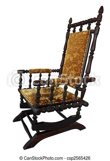 Antique Rocking Chair - csp2565426