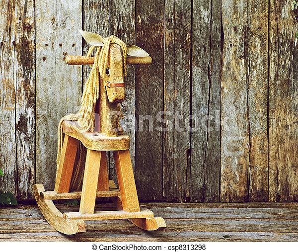 Antique rocking horse. - csp8313298