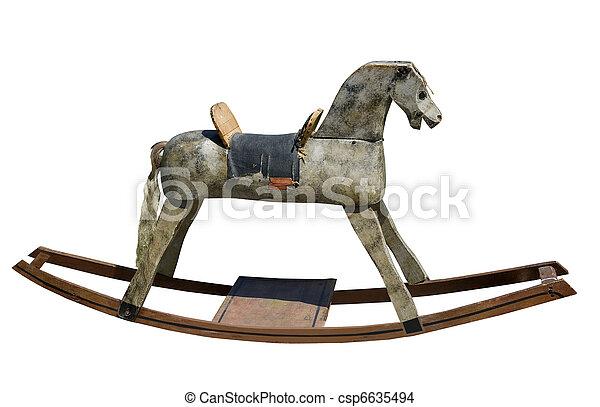 antique rocking horse - csp6635494