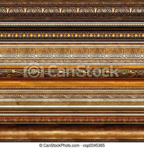 Antique rustic decorative frame patterns - csp0345365