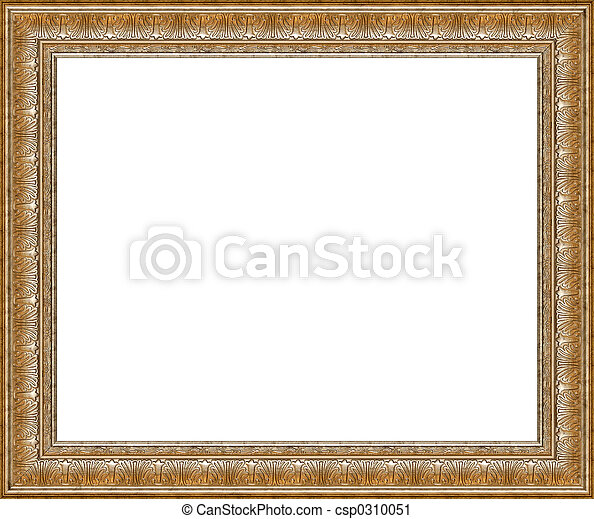 Antique rustic silver picture frame isolated - csp0310051