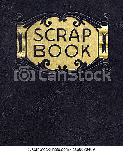 Antique Scrapbook, Circa 1890 (no longer under copyright) - csp0820469