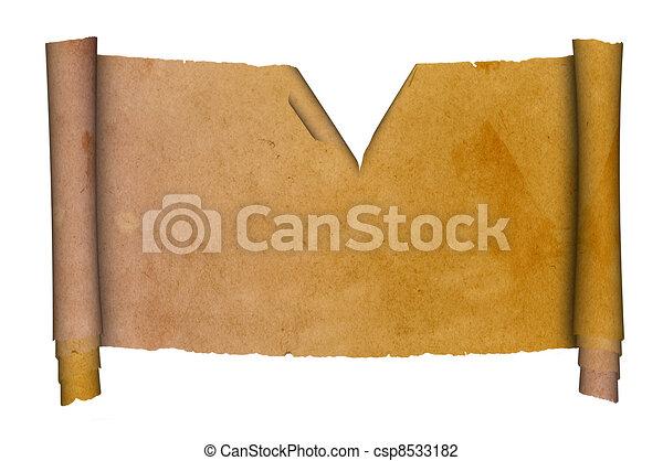 Antique scroll. - csp8533182