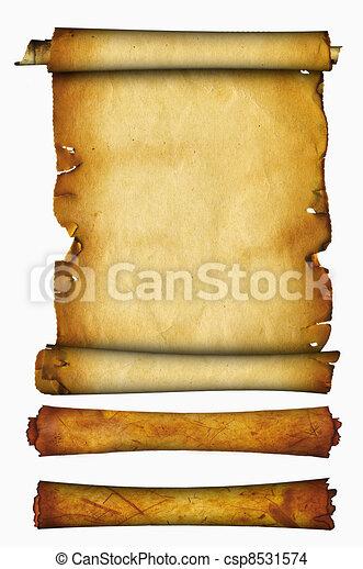 Antique scroll. - csp8531574