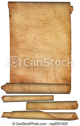 Antique scroll. - csp8531625