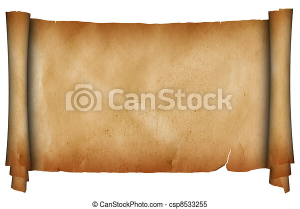 Antique scroll. - csp8533255