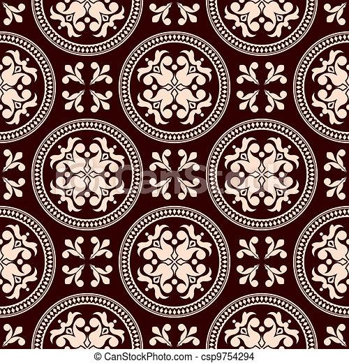 Antique seamless pattern - csp9754294