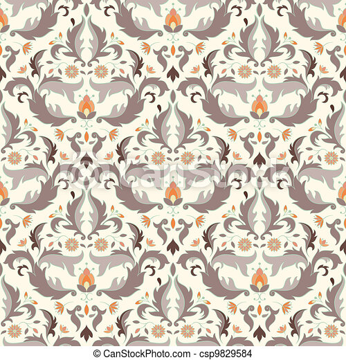 Antique seamless pattern - csp9829584