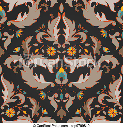 Antique seamless pattern - csp9799812