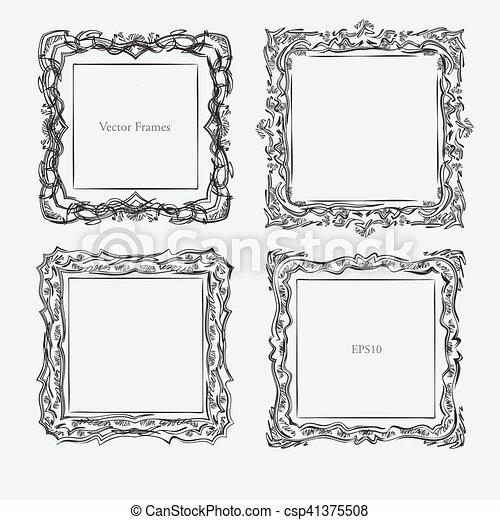 antique square decorative vintage - csp41375508
