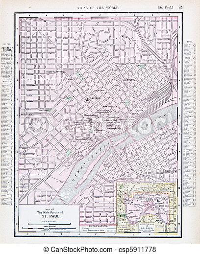 Antique Street City Map St. Paul, Minnesota, USA on hibbing minnesota on map, crookston minnesota on map, saint louis missouri on map, lakeville minnesota on map, saint paul minnesota christmas, roseville minnesota on map, ely minnesota on map, champlin minnesota on map, mankato minnesota on map, oakdale minnesota on map, minneapolis minnesota on map, moorhead minnesota on map, pipestone minnesota on map, bloomington minnesota on map, rosemount minnesota on map, brainerd minnesota on map, rochester minnesota on map, buffalo minnesota on map, new hope minnesota on map, duluth minnesota on map,