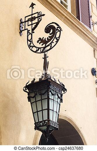 antique street lamps - csp24637680