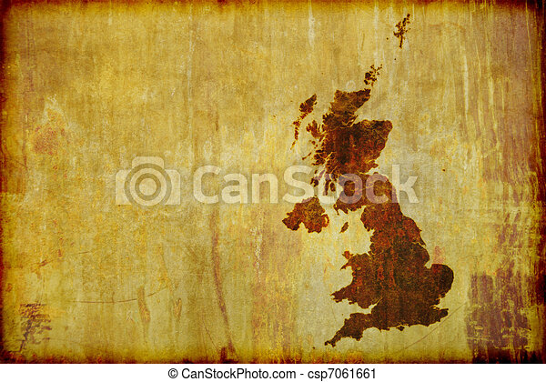 Antique Style Map of Great Britain  - csp7061661