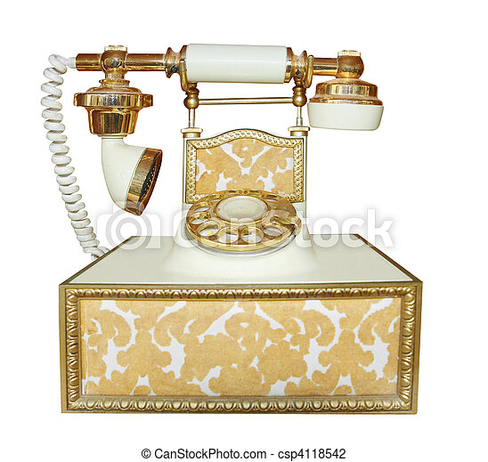Antique Style Phone - csp4118542