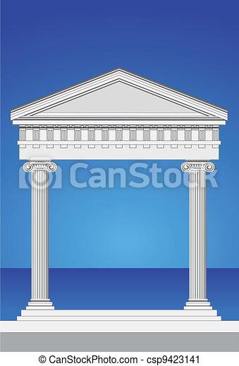 Antique Temple Facade - csp9423141
