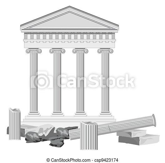 Antique Temple Ruins - csp9423174