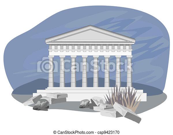 Antique Temple Ruins - csp9423170