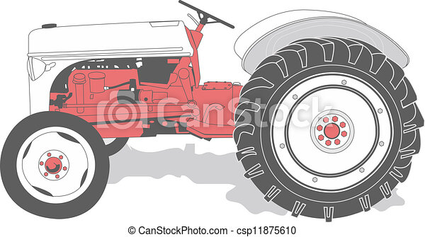 Antique tractor - csp11875610