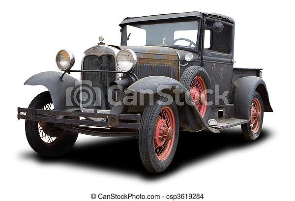 Antique Truck - csp3619284