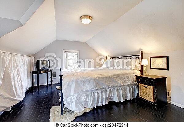 Antique Vieux, Velux, Maison, Mobilier Chambre. Plafond,  Photo