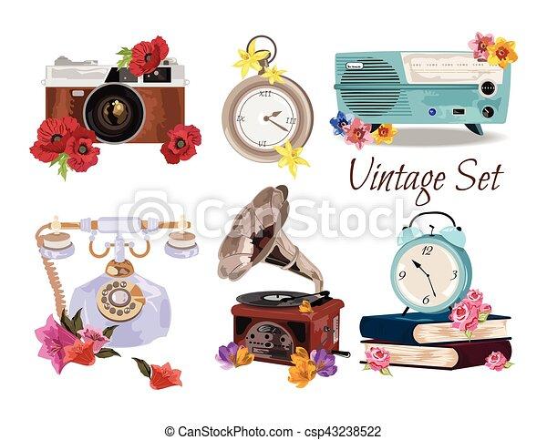 Antique Vintage Accessories set collection - csp43238522