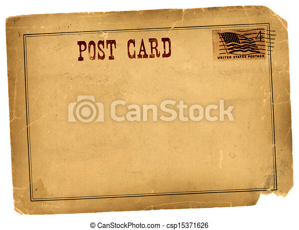 Antique Vintage Postcard Blank Space - csp15371626