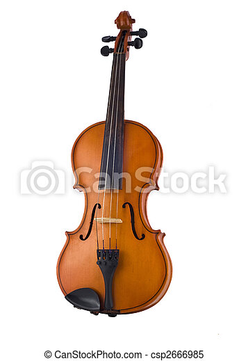 Antique violin isolated  - csp2666985
