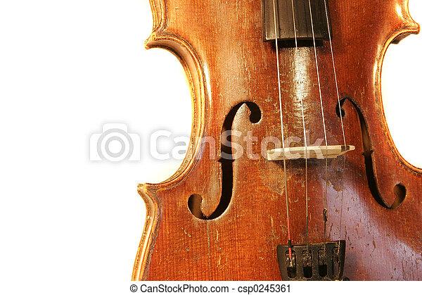 Antique Violin - csp0245361
