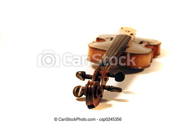 Antique Violin - csp0245356
