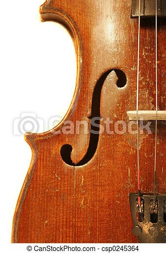 Antique Violin - csp0245364