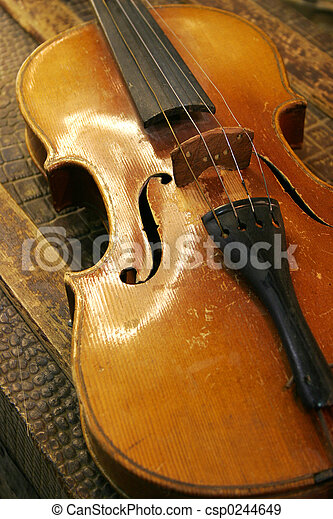 Antique Violin - csp0244649