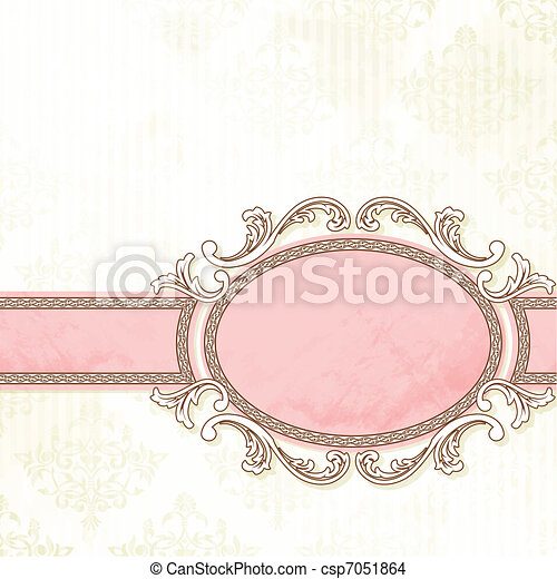 antique white wedding banner grungy intricate pink and white banner design graphics are grouped and in several layers for https www canstockphoto com antique white wedding banner 7051864 html