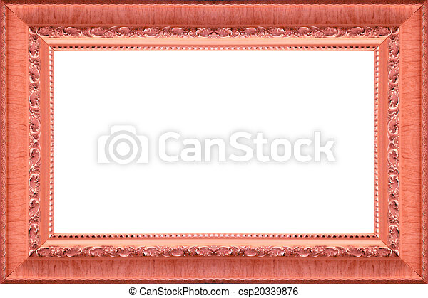 Antique wood frame picture.