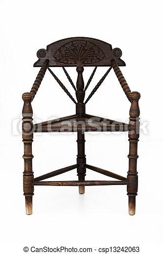Antique Wooden Corner Chair   Csp13242063