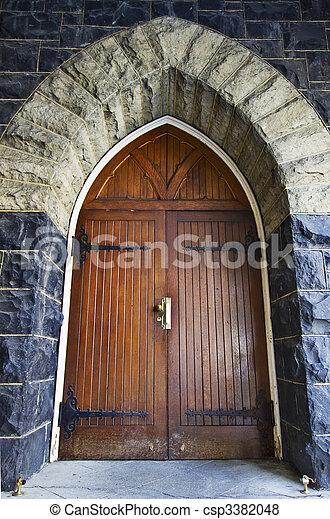 Antique Wooden Door - csp3382048