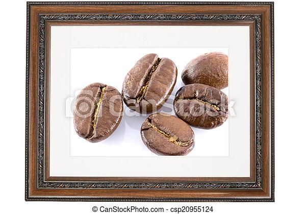 Antique wooden frame  - csp20955124