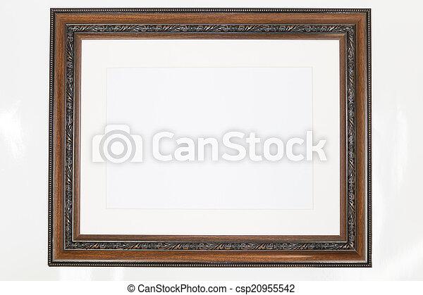 Antique wooden frame  - csp20955542