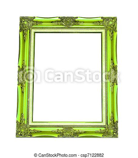 Antique wooden frame   - csp7122882