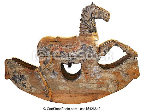 Antique Wooden Rocking Horse - csp15426640