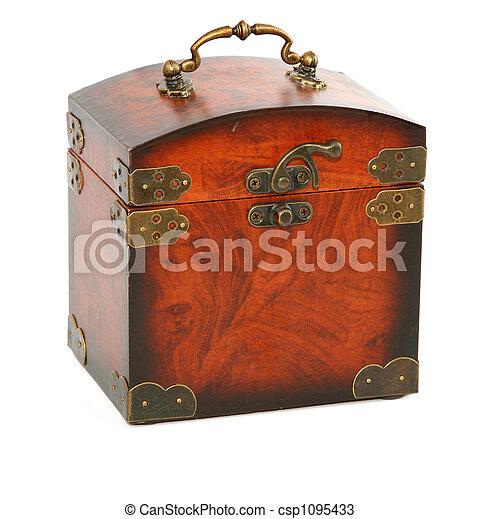 antique wooden trunk - csp1095433
