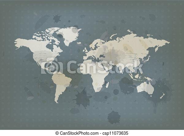Antique world map and ink splatter vectors search clip art antique world map and ink splatter csp11073635 gumiabroncs Images