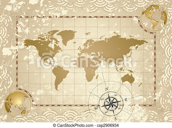 Antique world map antique style world map vector eps vector antique world map csp2906934 gumiabroncs Images