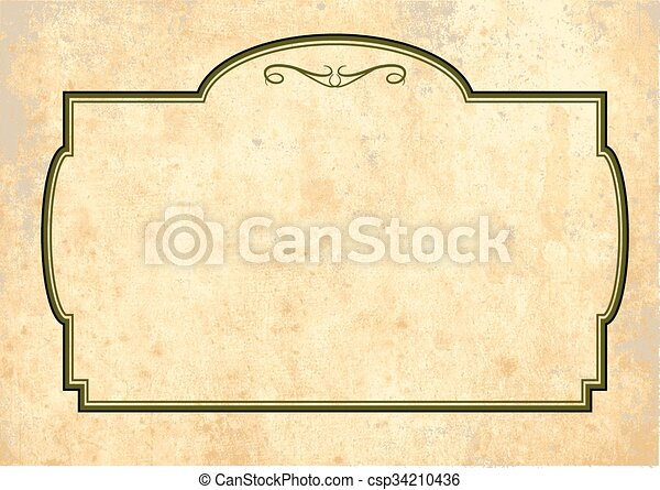 Antique Yellowish Parchment - csp34210436