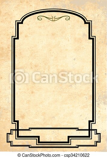 Antique Yellowish Parchment - csp34210622