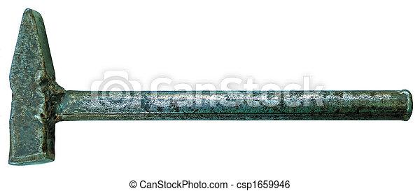 antiqueing solid-metal hammer - csp1659946