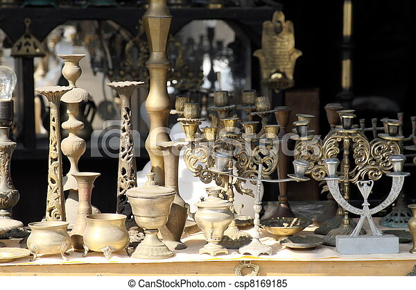 Antiques in jerusalem east market - csp8169185