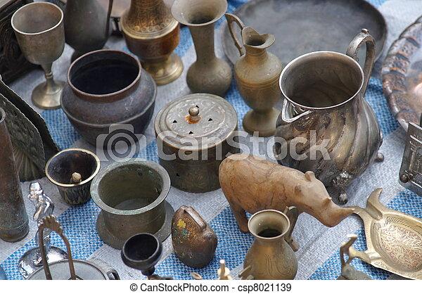 Antiques in jerusalem east market - csp8021139