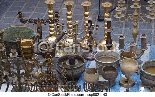 Antiques in jerusalem east market - csp8021143