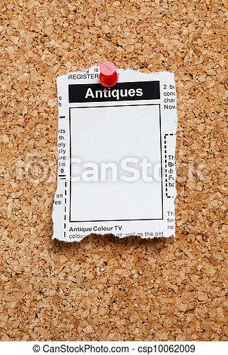 Antiques Sale ad - csp10062009