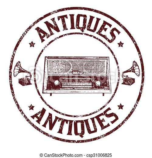 Antiques stamp - csp31006825